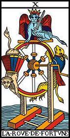 La decima carta degli Arcani Maggiori dei Tarocchi: la Ruota o Fortuna